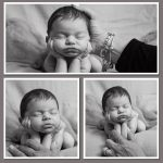 Safety in newborn posing